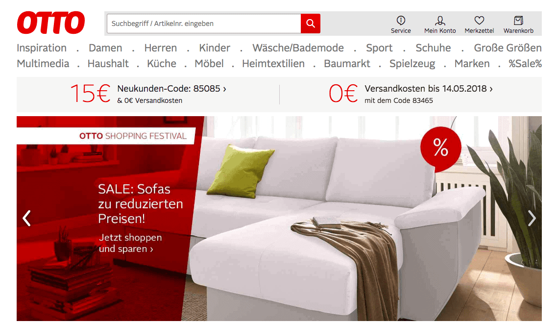 Otto Germania marketplace in europa